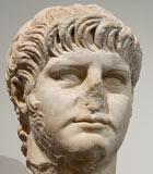 Roman marble statue of Emperor Nero