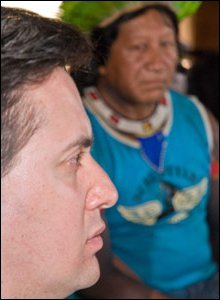 Ed Miliband en Brasil