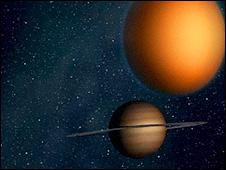 Titán y Saturno