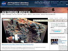 Página de la NASA Asteroid Watch