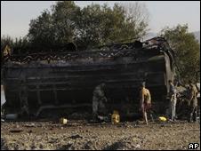Zona del ataque en Kunduz