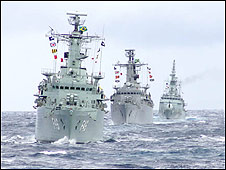 Barcos de la Marina brasileña