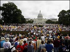 Manifestantes en Washington