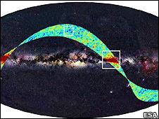 Imagen captada por Planck.