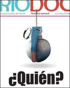 Detalle de la portada del semanario Riodoce