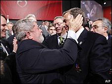 Lula y Zapatero