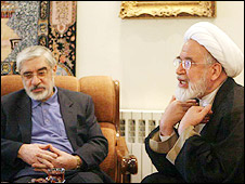 مهدی کروبی و میر حسین موسوی