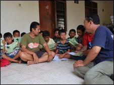 Melibatkan anak-anak sekolah di Klungkung