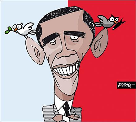 Caricatura de Obama