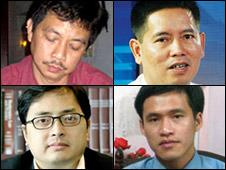 Các nhân vật bất đồng bị xử tù năm 2010