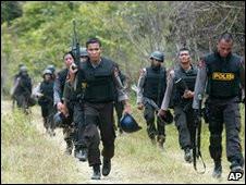 Polisi dikerahkan untuk merazia kamp di Aceh Besar, NAD