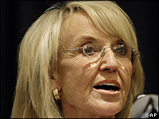 Jan Brewer, gobernadora de Arizona
