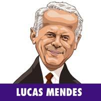 Lucas Mendes em ilustração de Baptistão