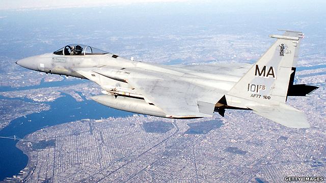 Chiến đấu cơ F-15 trên bầu trời New York