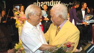 Ông Võ Văn Kiệt và nhạc sỹ Phạm Duy