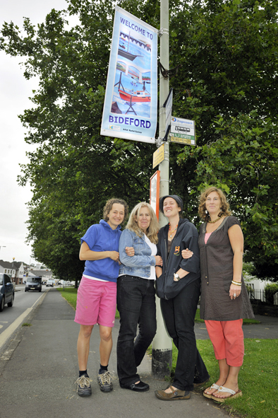 BBC Banners Welcome Visitors To Bideford