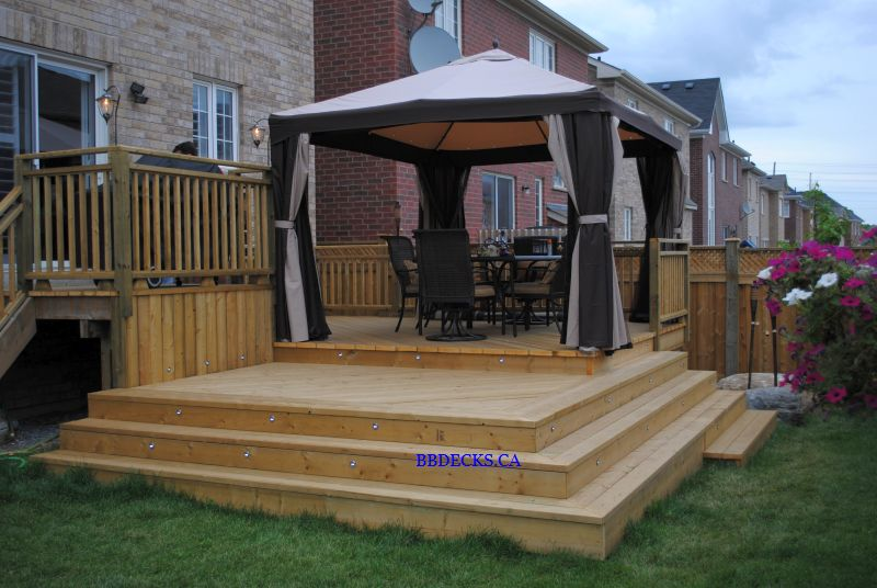 multi level open deck beaver brothers deck builder toronto