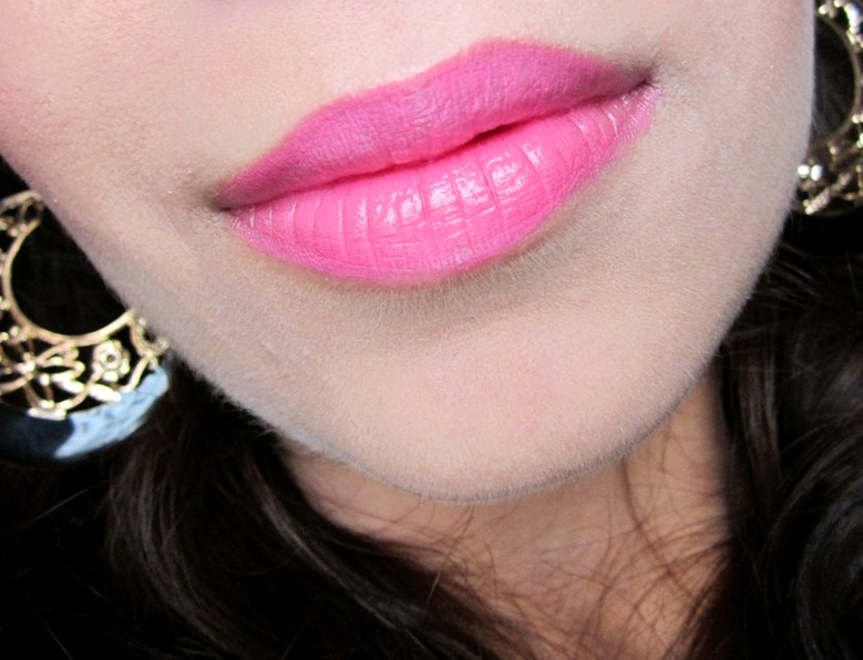 Bourjois Rouge Editon Lipstick  Rose Neon review swatches (1)