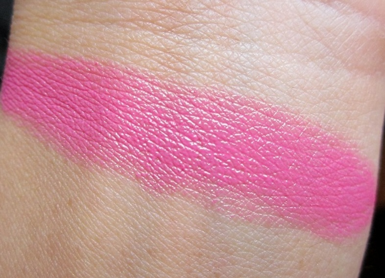Bourjois Rouge Editon Lipstick  Rose Neon review swatches (2)