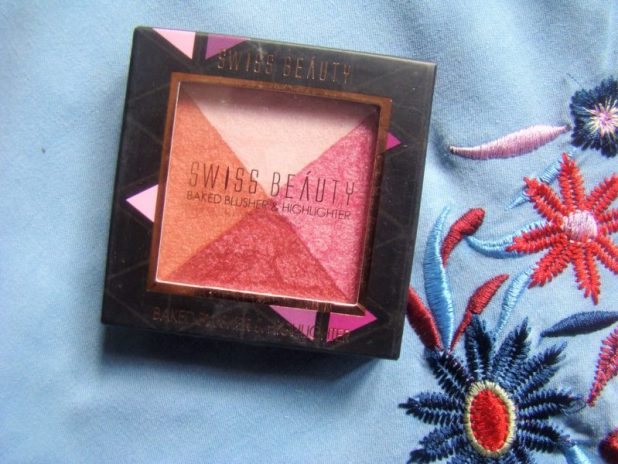 Swiss Beauty Baked Blusher and Highlighter Review Photos Swatches Price