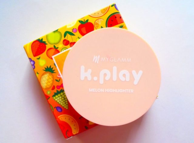 Myglamm K Play Highlighter Melon Review Swatches Photos