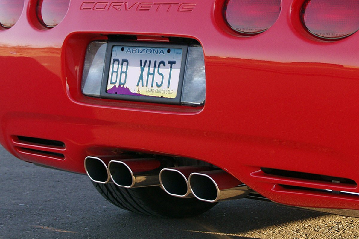 chevy c5 corvette route 66 axle back exhaust system oval tips fcor 0200