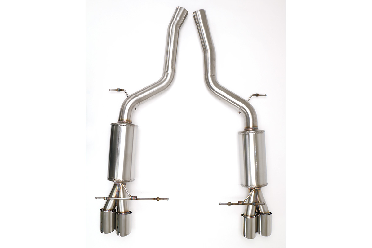 Bmw E60 M5 Cat Back Exhaust System Round Tips Fbmw