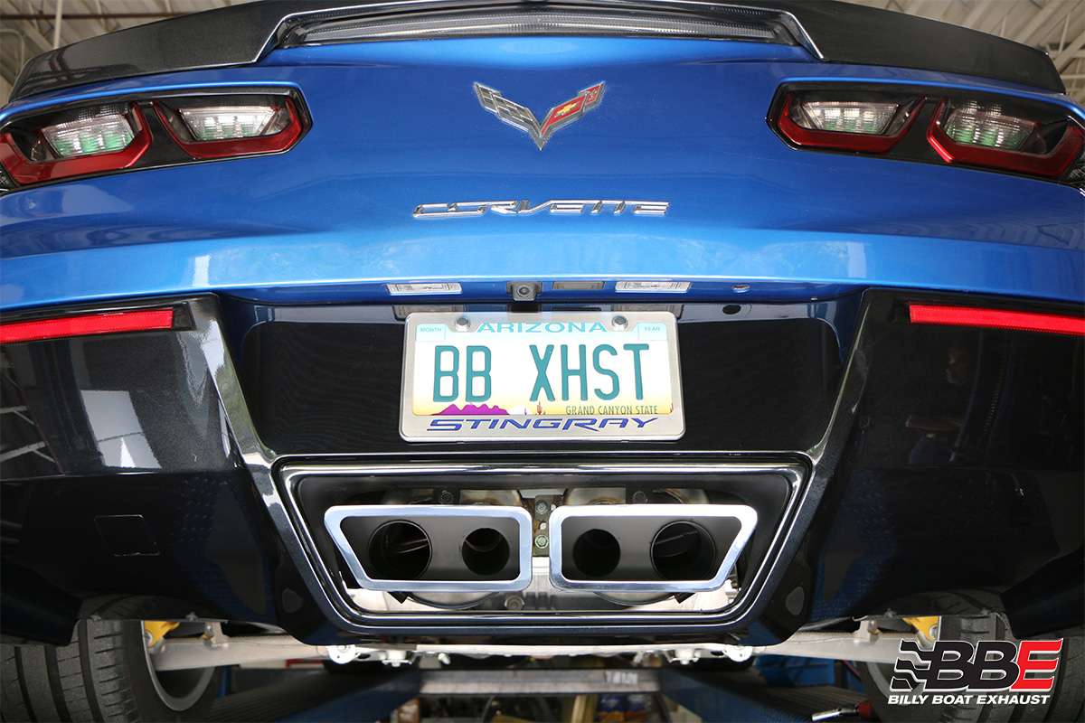 chevy c7 corvette fusion gen 3 axle back exhaust system automatic trans includes grand sport speedway tips fcor 0667