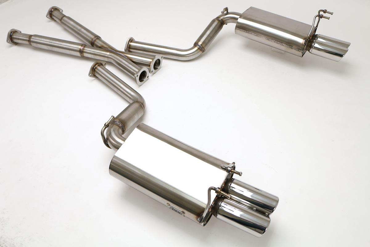 nissan 300zx non turbo 2 2 cat back exhaust system 2 1 2 round tips fpim 0070
