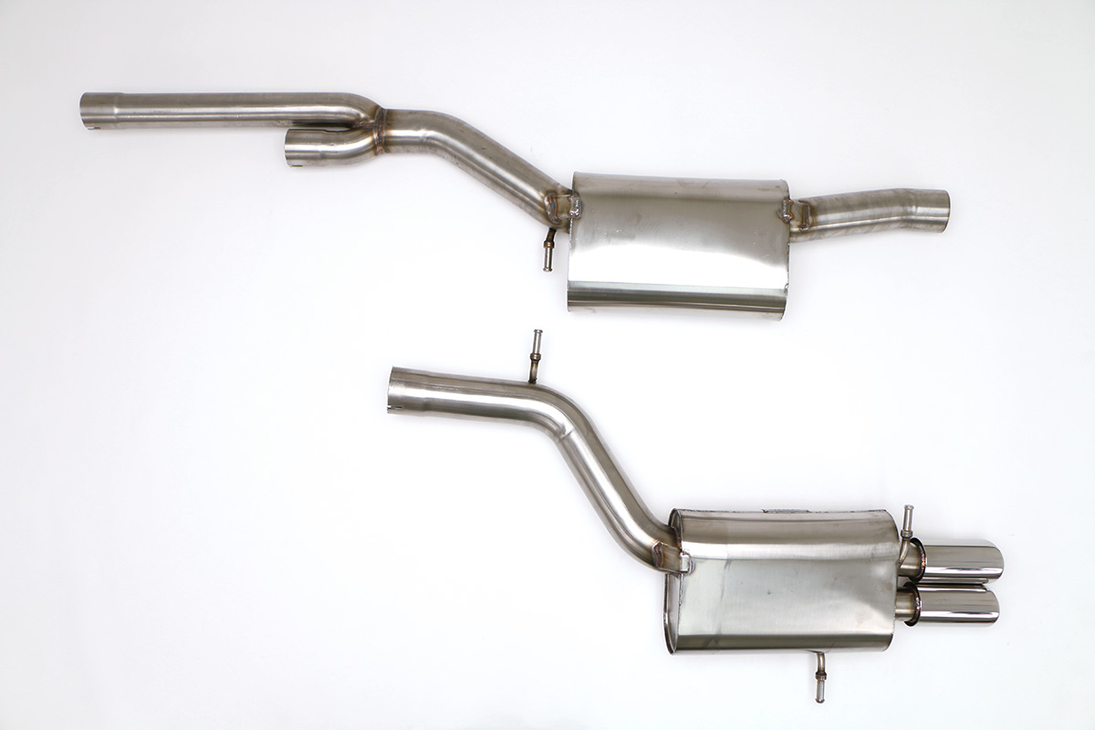 audi b5 s4 cat back stealth exhaust system 2 7t round tips fpim 0535
