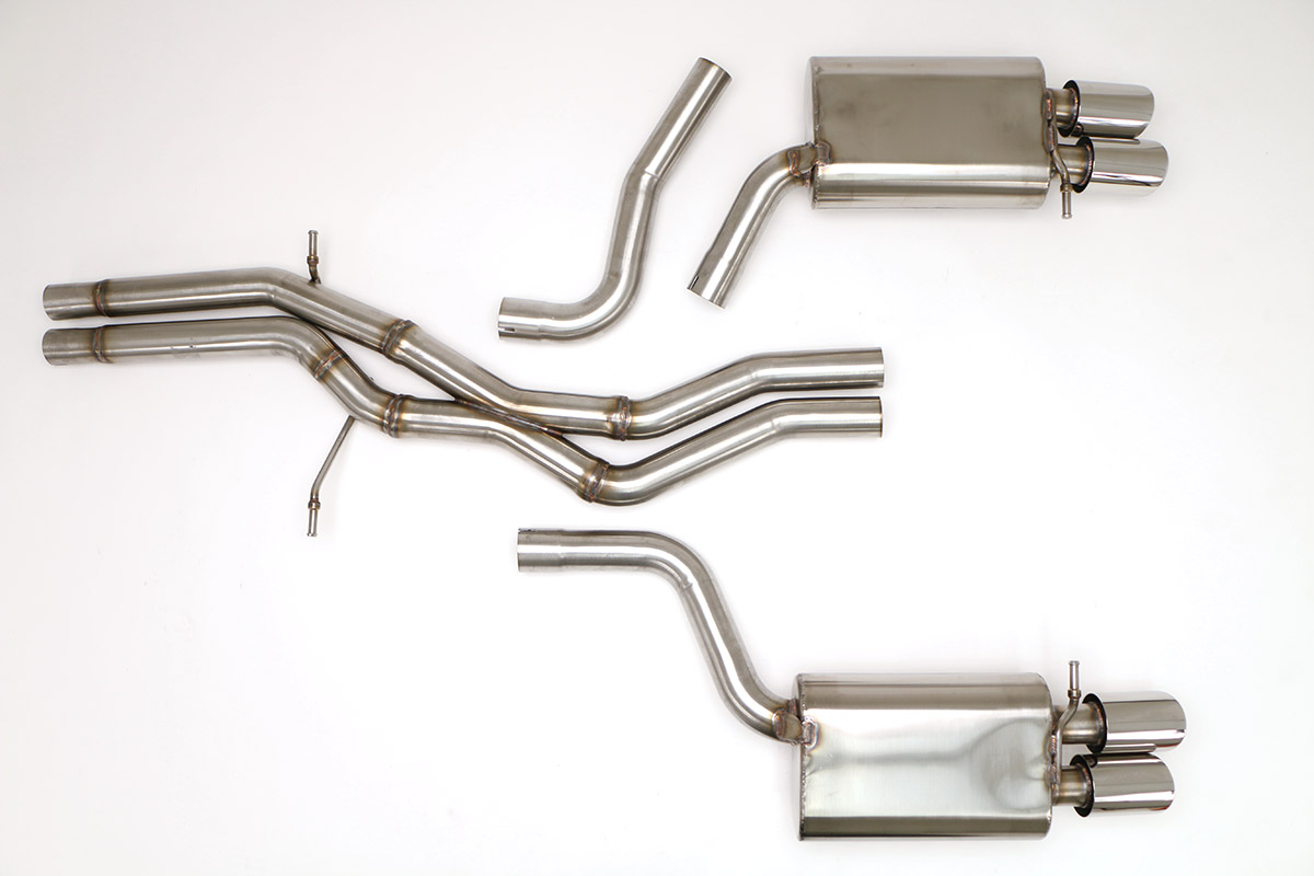 audi s5 cat back sport exhaust system 3 0l round tips fpim 0574