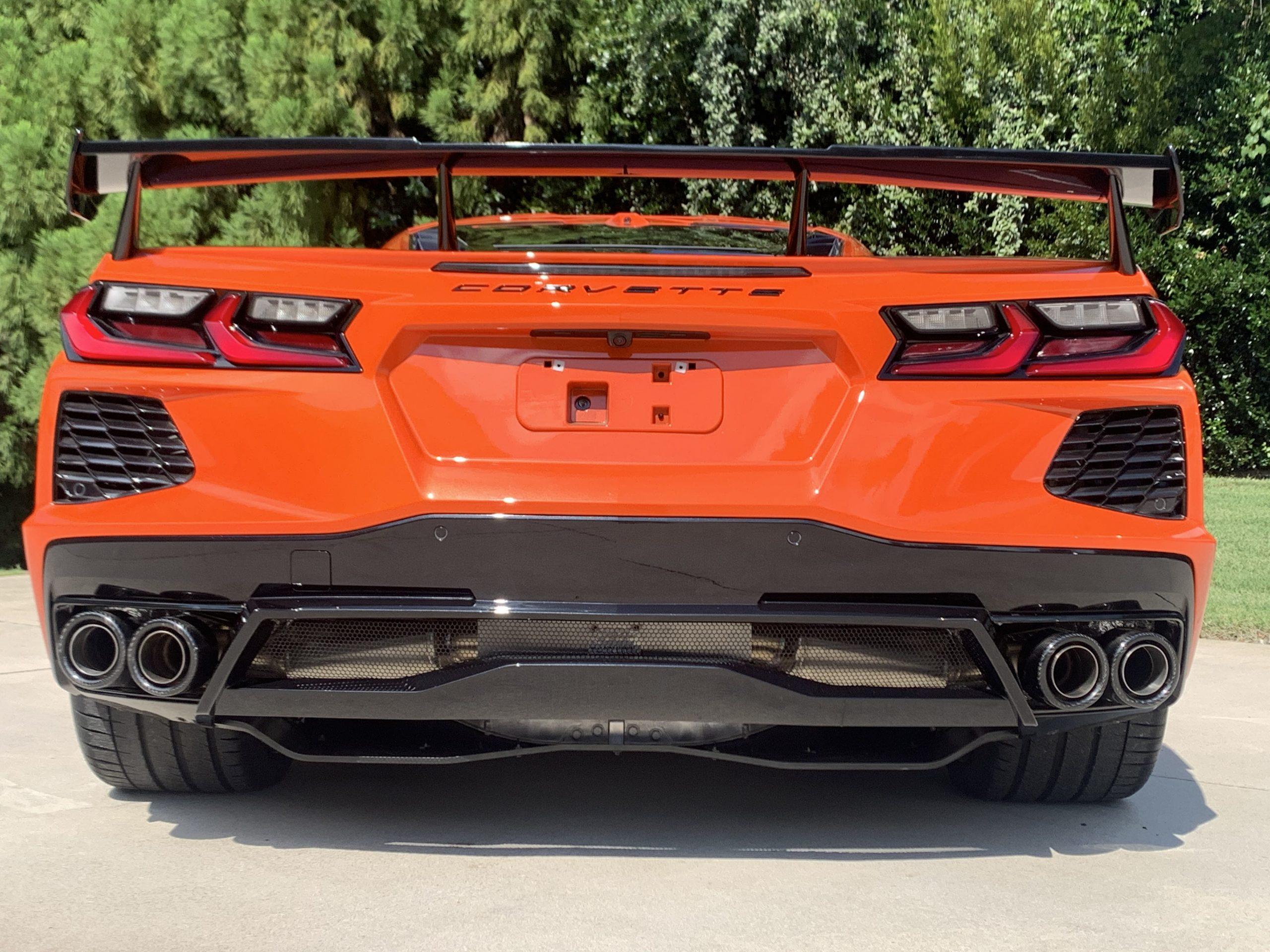 chevy c8 corvette stingray fusion exhaust system fcor 0750 4 5 carbon fiber tips