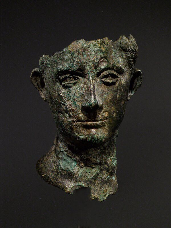 Bronze head of Emperor Augustus, a rare and important example in this material. Early 1st century AD. © Musée d'Art Classique de Mougins (MACM) 2016 - christian levett