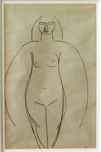 Drawing by Amedeo Modigliani, 1908. - christian levett