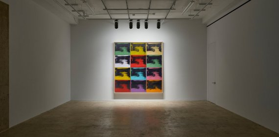 Andy Warhol – Little Electric Chairs (2016) - Adam Lindemann Installation