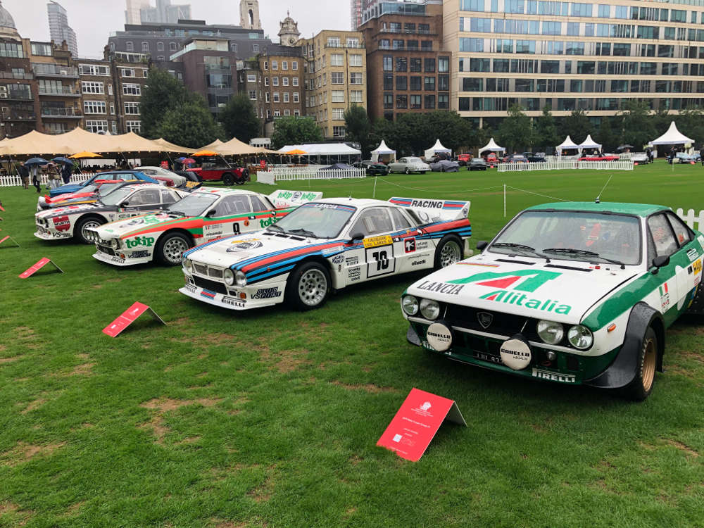 london concours 2020 rally car display
