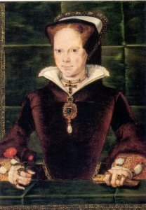 Mary Tudor by Hans Eworth, 1554; #HiddenFaces