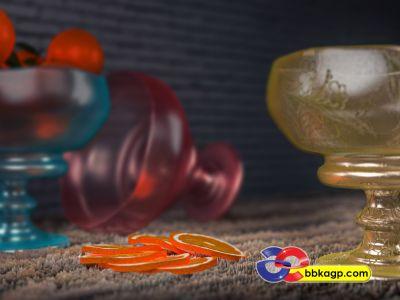 3D Vazo modelle ve Vray Render Ankara