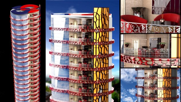 Kule Bina Modeli 3Ds Max kursu Ankara Özel Ders
