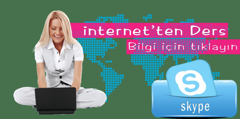 internetten ders skype grafik ingilizce