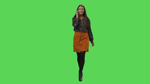 Yürüyen Kız Yeşil Perde Çekimleri