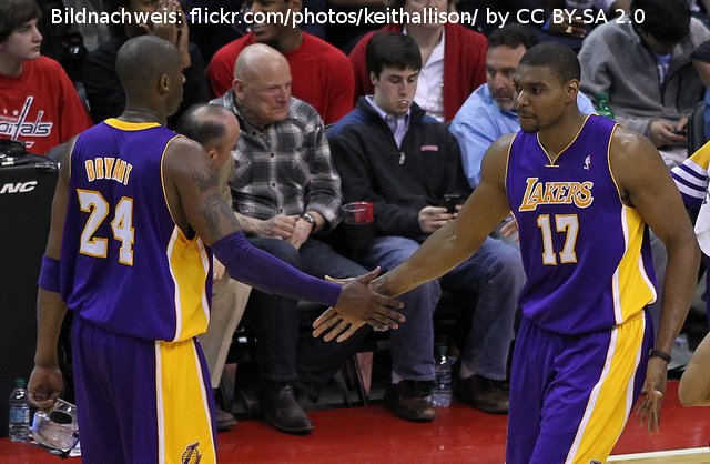 LA Lakers Andrew Bynum Kobe Bryant