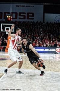 Europa - EuroLeague - Brose Bamberg vs. Olympiacos Piräus - Matt Lojeski - Fabien Causeur
