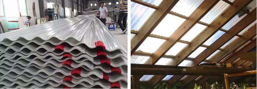 china corrugated fiberglass patio roof