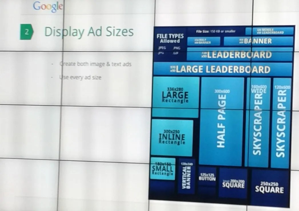 Ad Gallery Ad Sizes