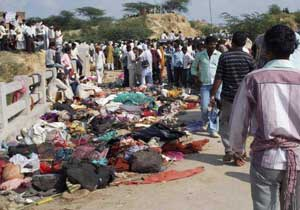 The death toll from a stampede at a Hindu festival risen to 109