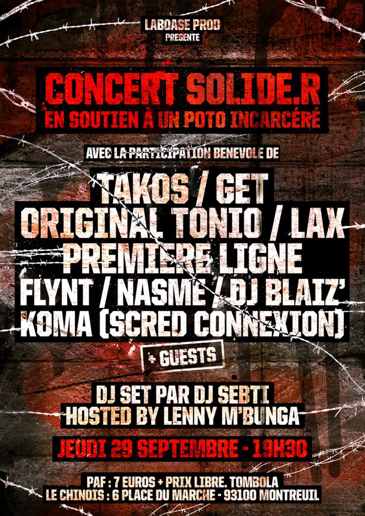 """Concert """"Solide.R"""" le jeudi 29 septembre 2016 au Chinois à Montreuil"""