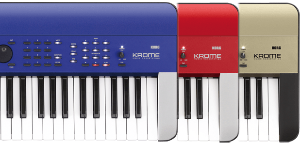 Korg Krome Limited Edition Red, Blue & Gold