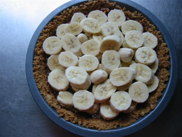 Banoffee pie, de bodem en de bananen
