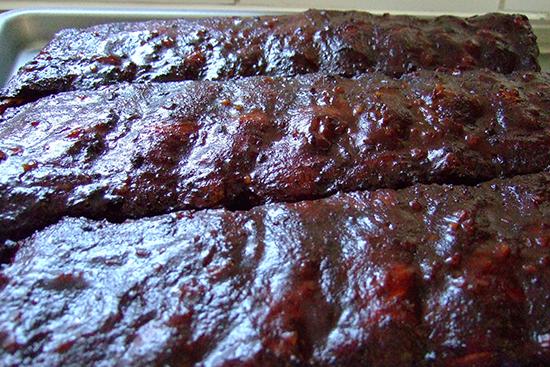 Slow Smoked Baby Back Ribs in a Carolina Mop Sauce | Recipe